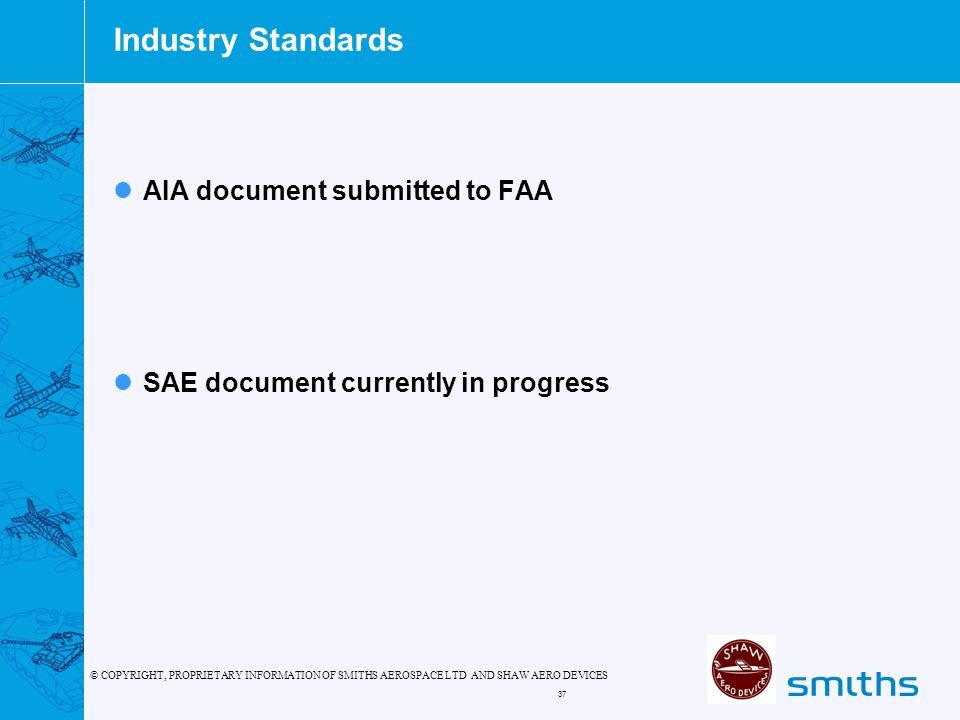 Industry Standards AIA document submitted to FAA