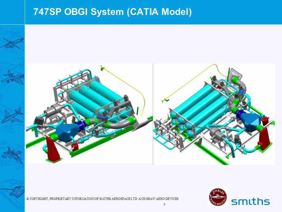 747SP OBGI System (CATIA Model)