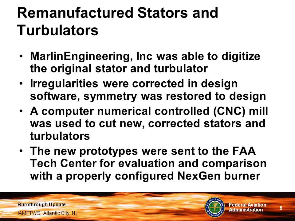 Remanufactured Stators and Turbulators