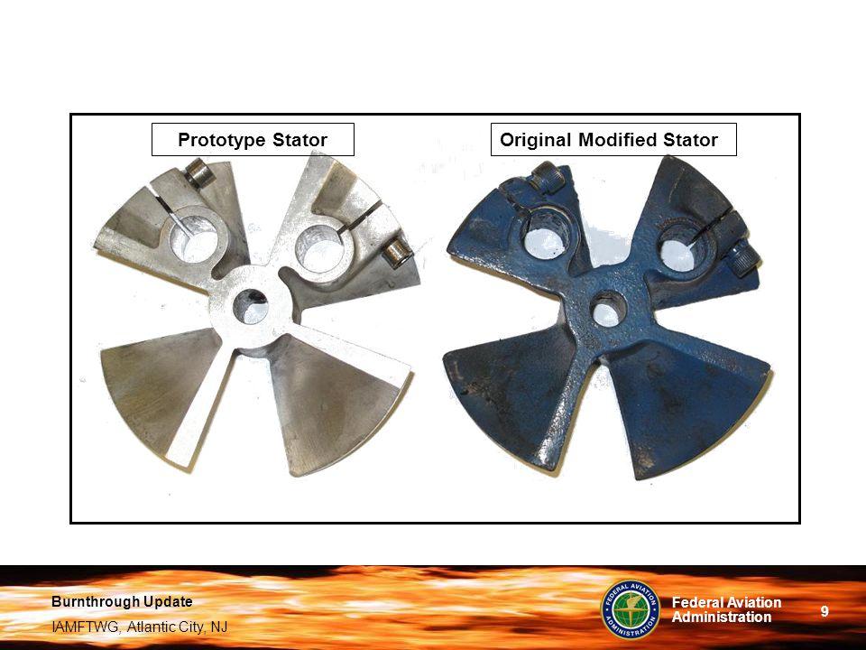 Prototype Stator Original Modified Stator
