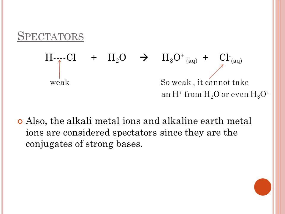 H----Cl + H2O  H3O+ (aq) + Cl-(aq)