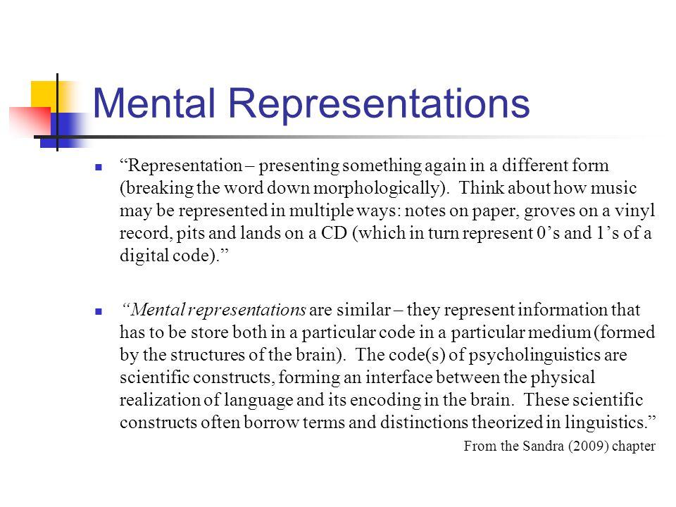 Mental Representations