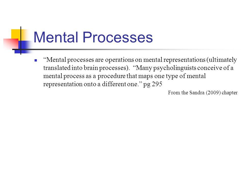 Mental Processes