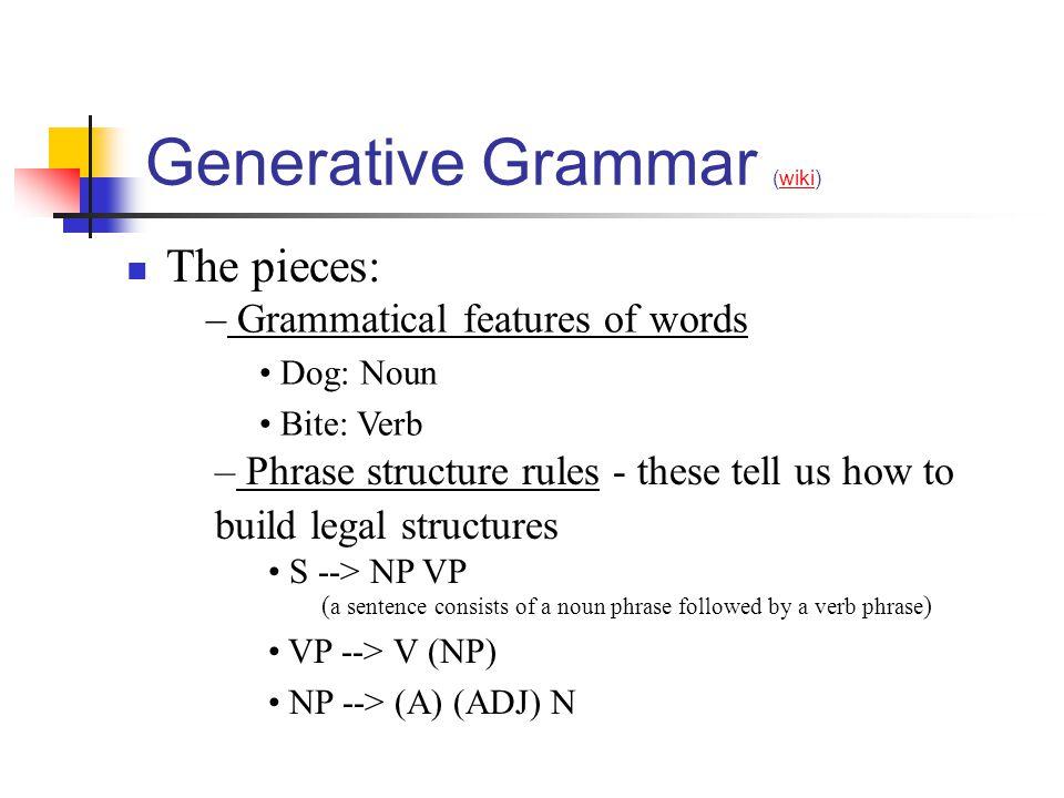 Generative Grammar (wiki)