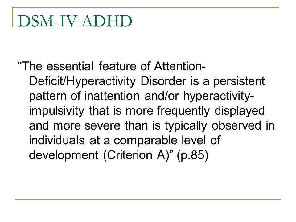 DSM-IV ADHD