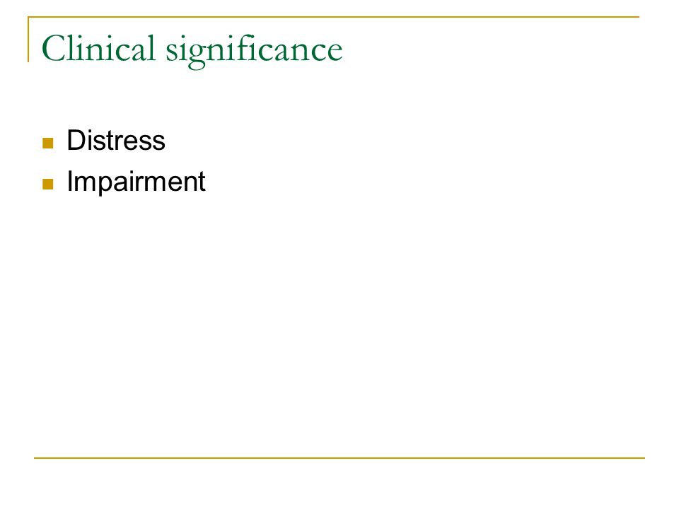 Clinical significance