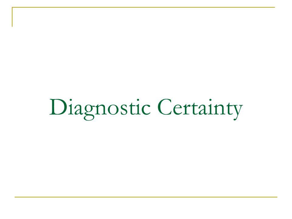 Diagnostic Certainty