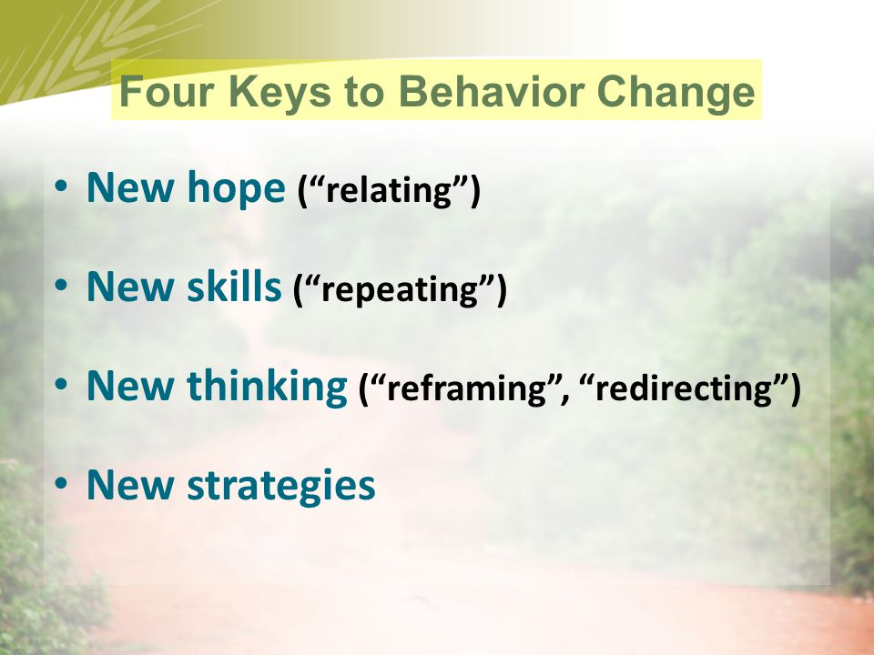 Four Keys to Behavior Change