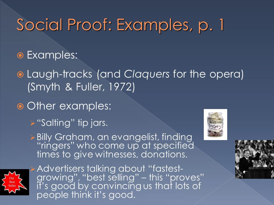Social Proof: Examples, p. 1