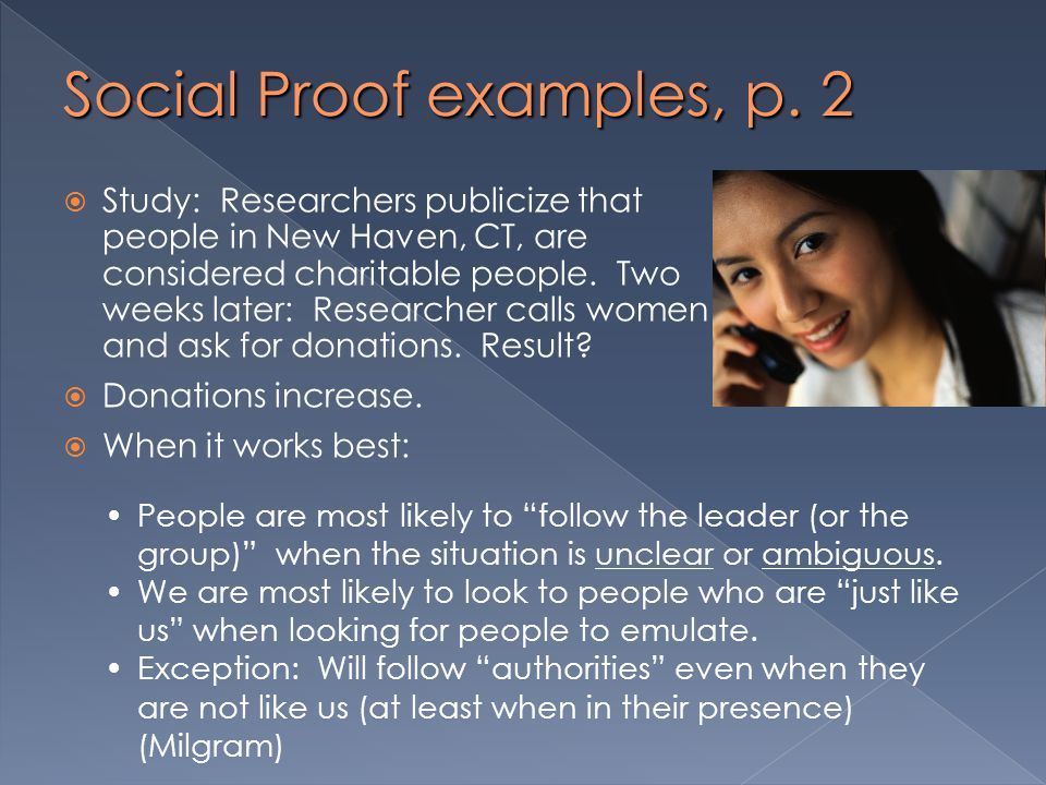 Social Proof examples, p. 2