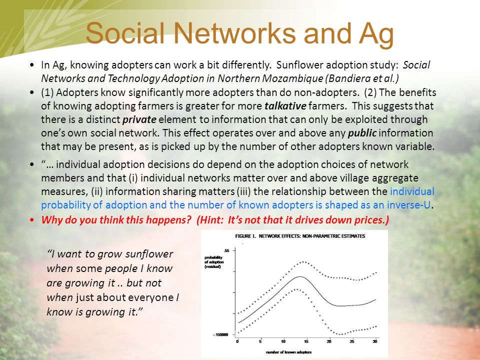 Social Networks and Ag