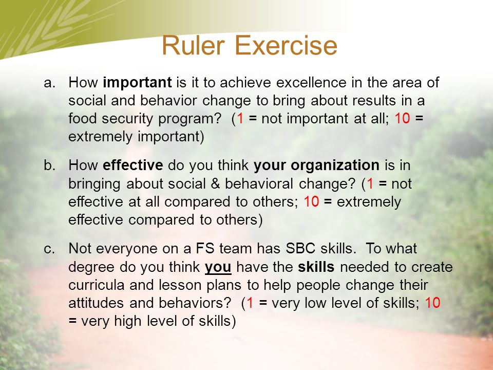 Ruler Exercise