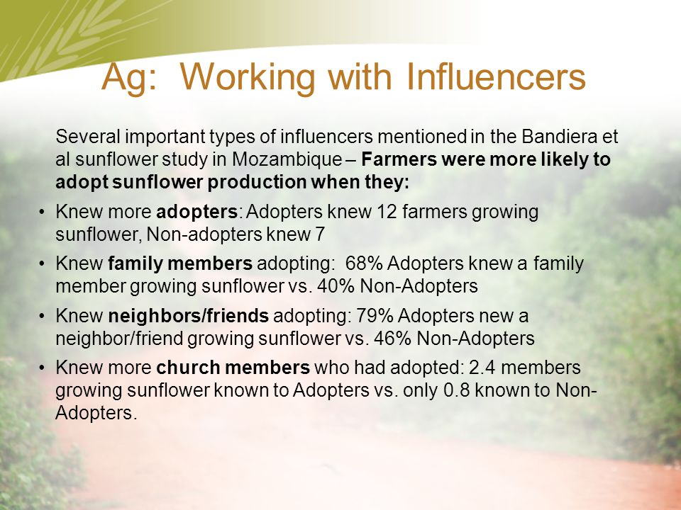 Ag: Working with Influencers