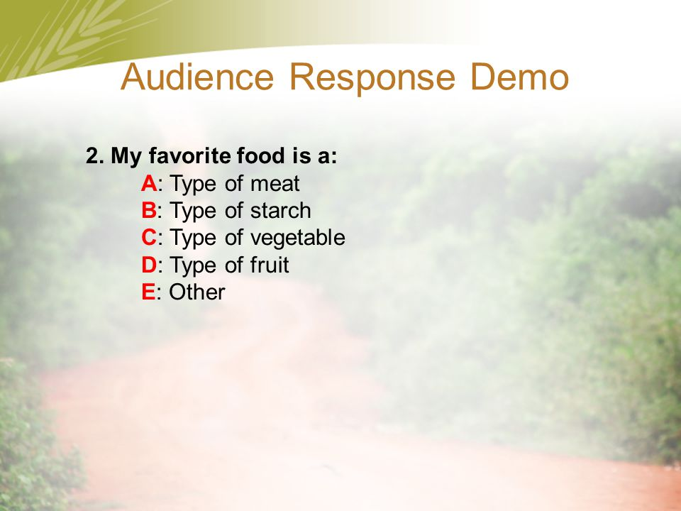 Audience Response Demo