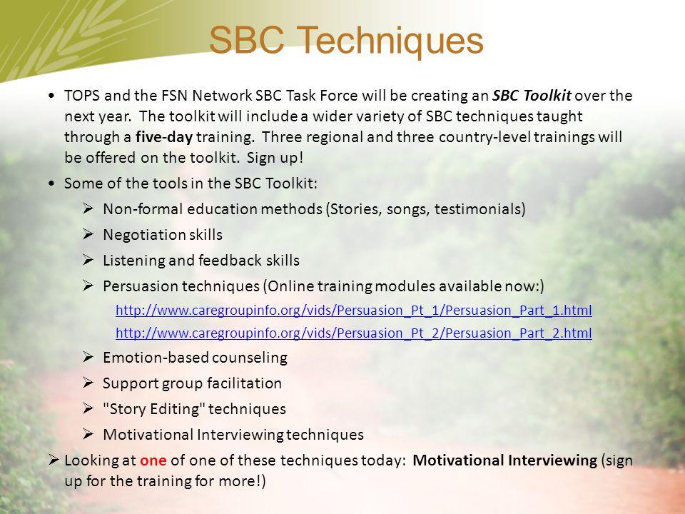 SBC Techniques