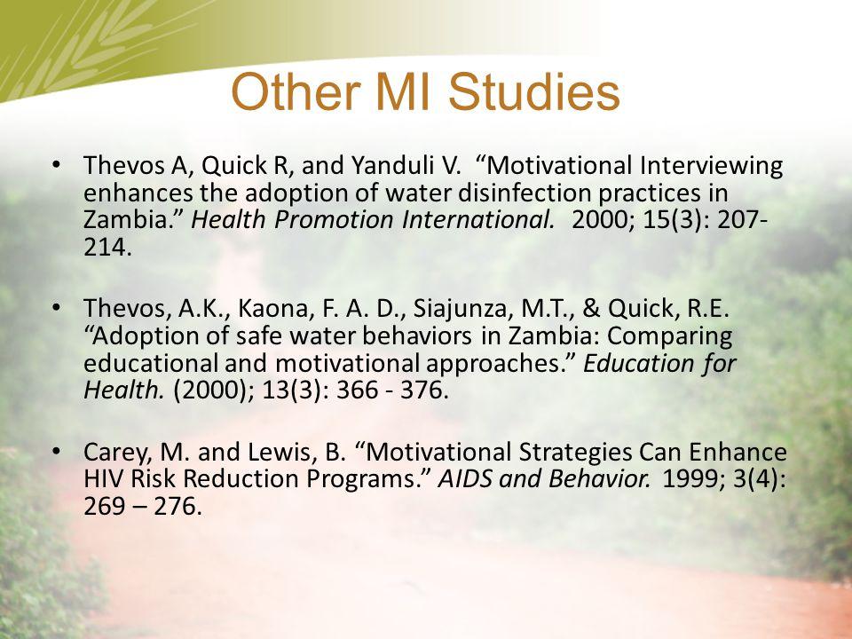 Other MI Studies