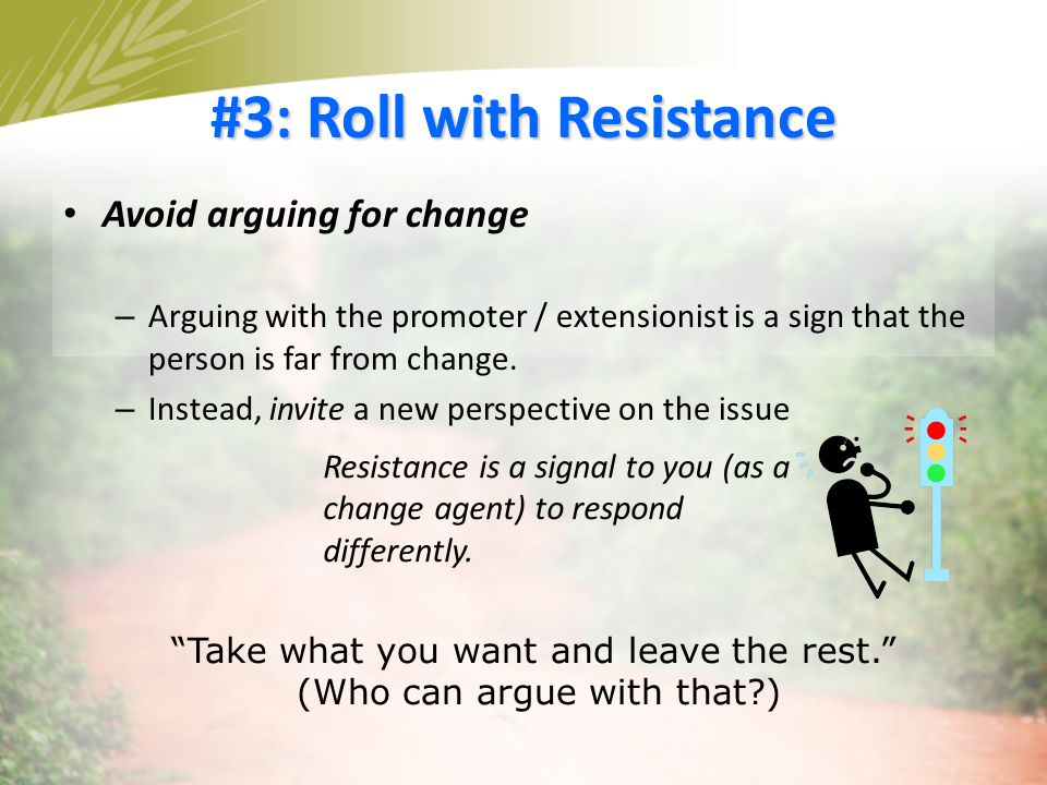 #3: Roll with Resistance