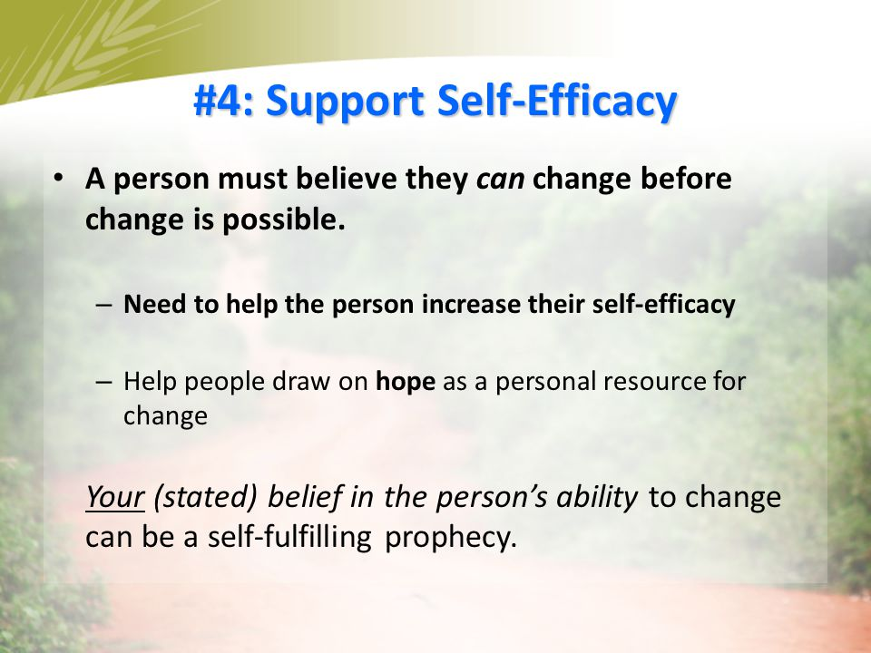 #4: Support Self-Efficacy