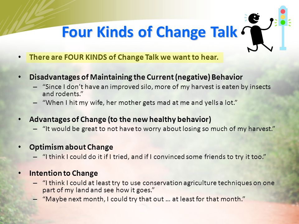 Four Kinds of Change Talk
