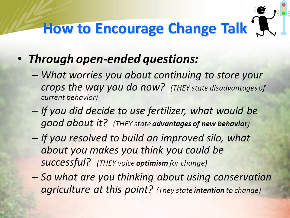How to Encourage Change Talk