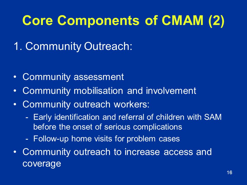 Core Components of CMAM (2)