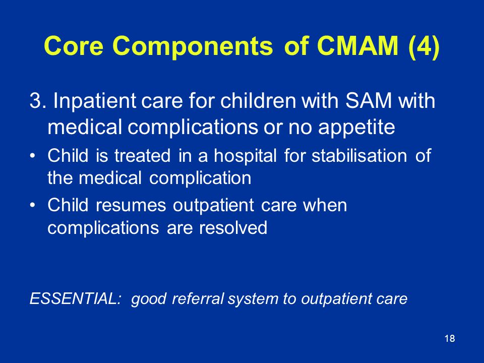 Core Components of CMAM (4)