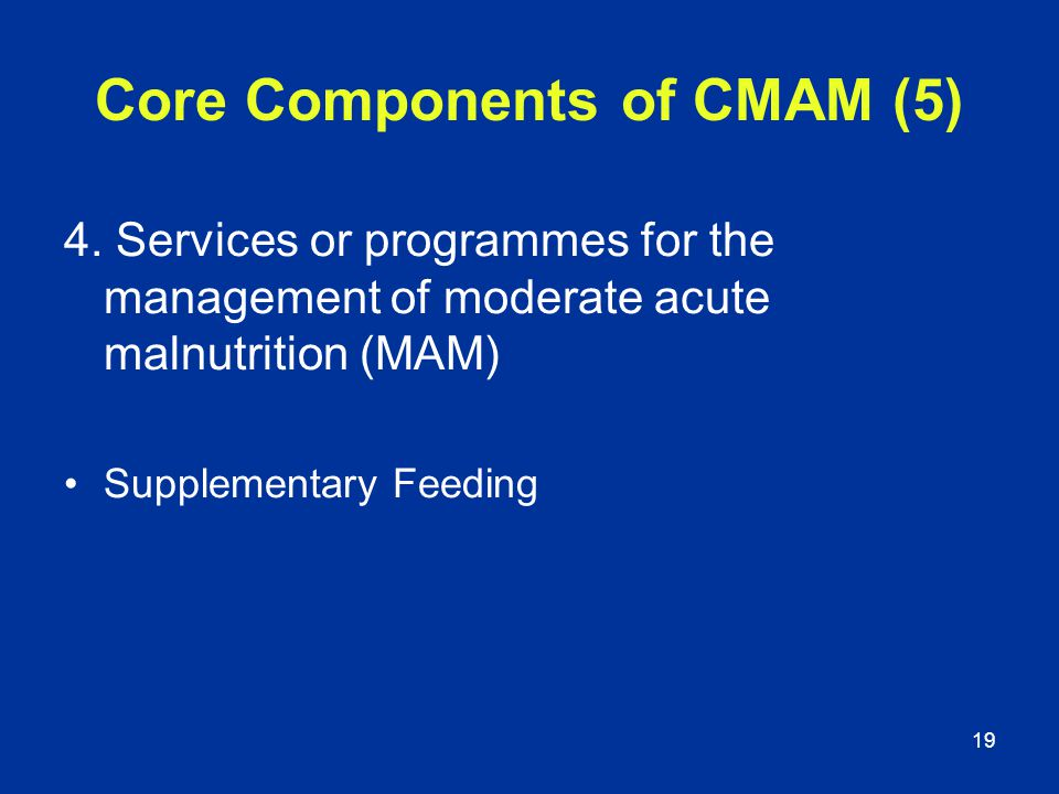 Core Components of CMAM (5)