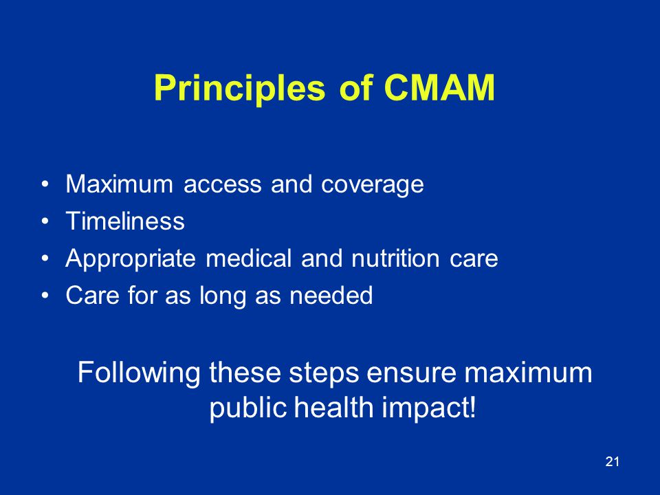 Following these steps ensure maximum public health impact!
