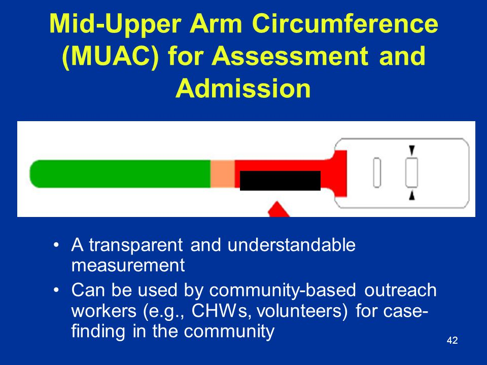 Mid-Upper Arm Circumference (MUAC) for Assessment and Admission