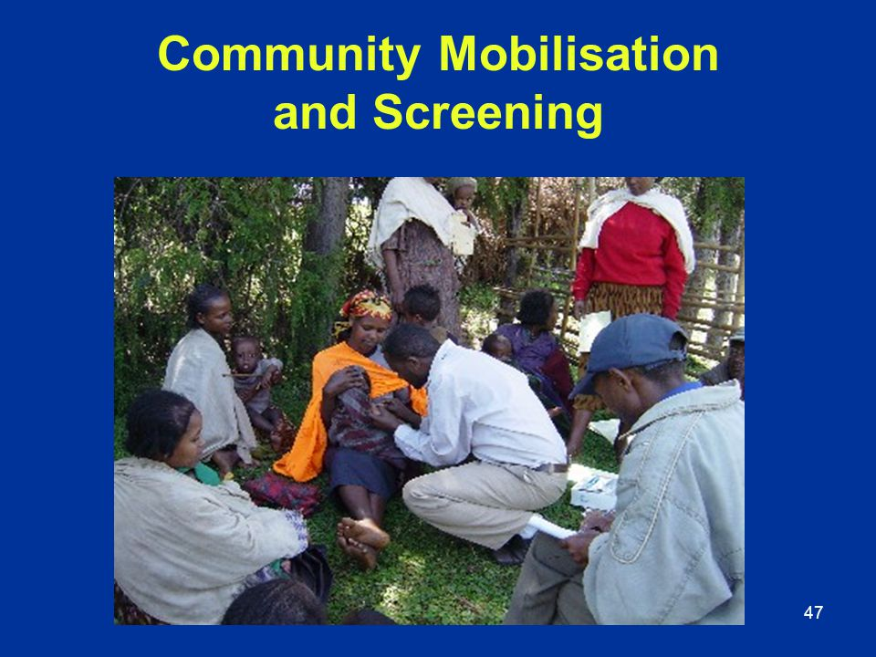 Community Mobilisation and Screening