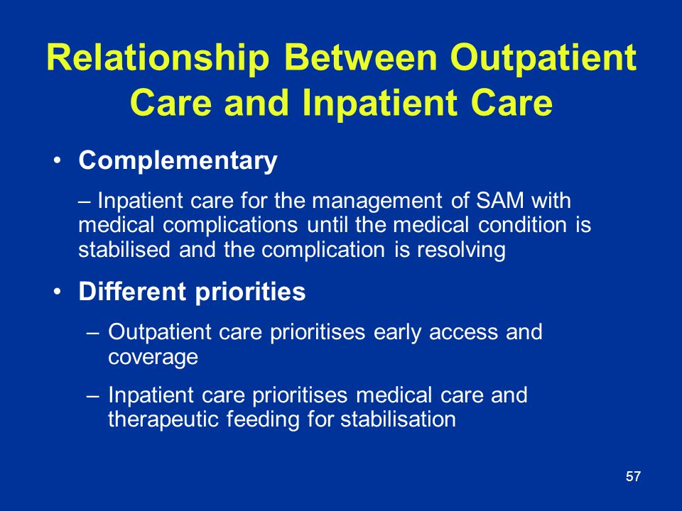 Relationship Between Outpatient Care and Inpatient Care