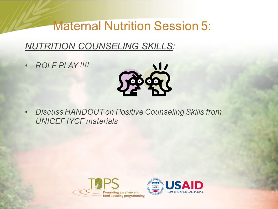 Maternal Nutrition Session 5: