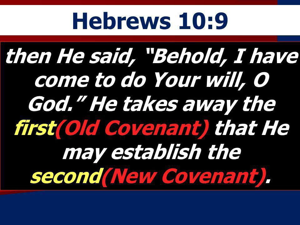 Hebrews 10:9