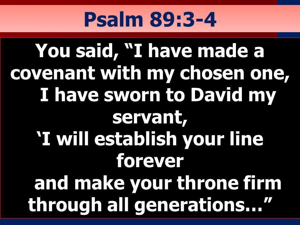 Psalm 89:3-4