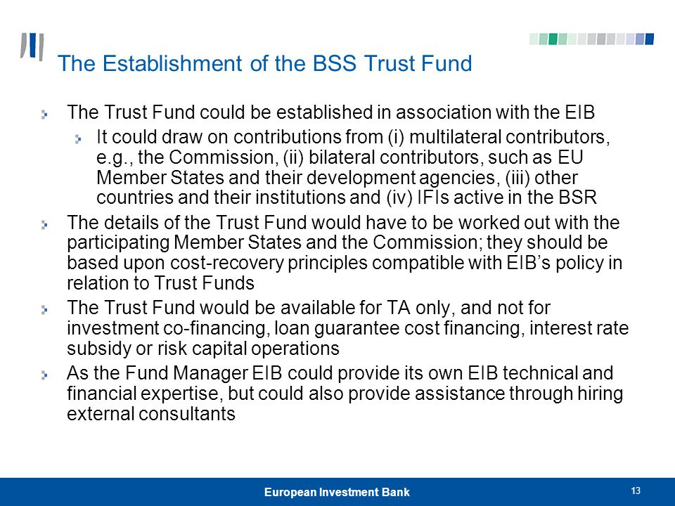 The Establishment of the BSS Trust Fund