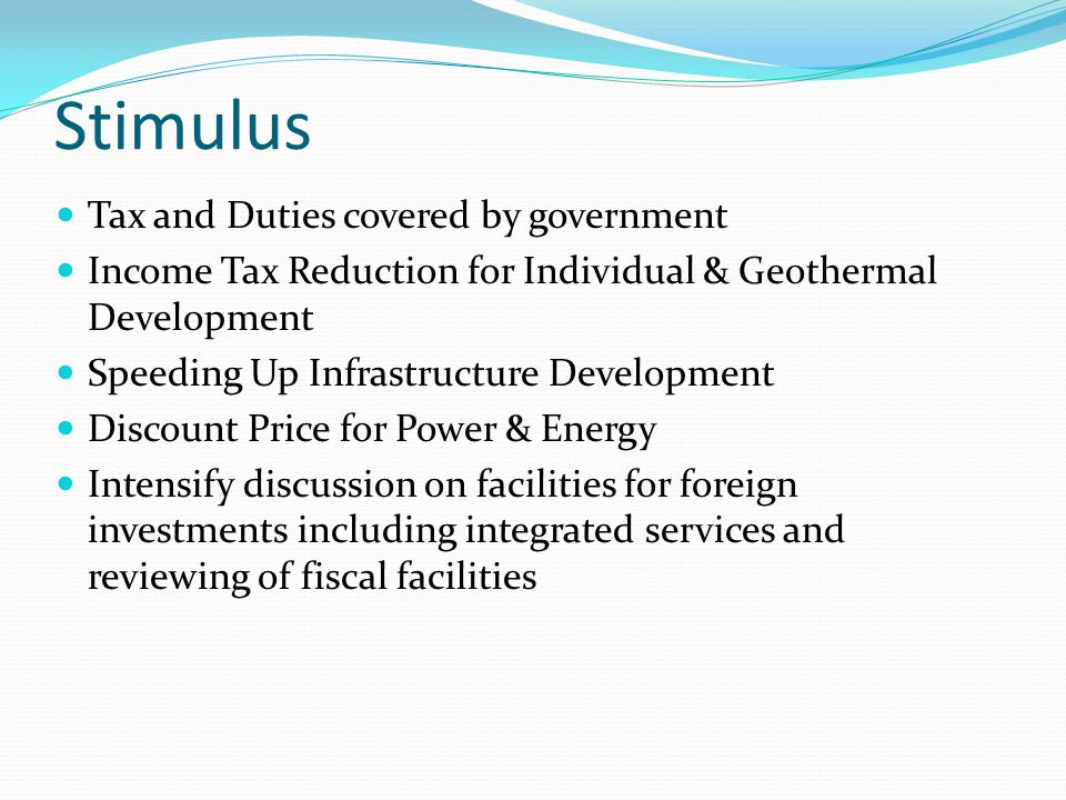 Stimulus Tax and Duties covered by government