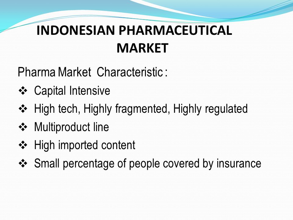 INDONESIAN PHARMACEUTICAL MARKET