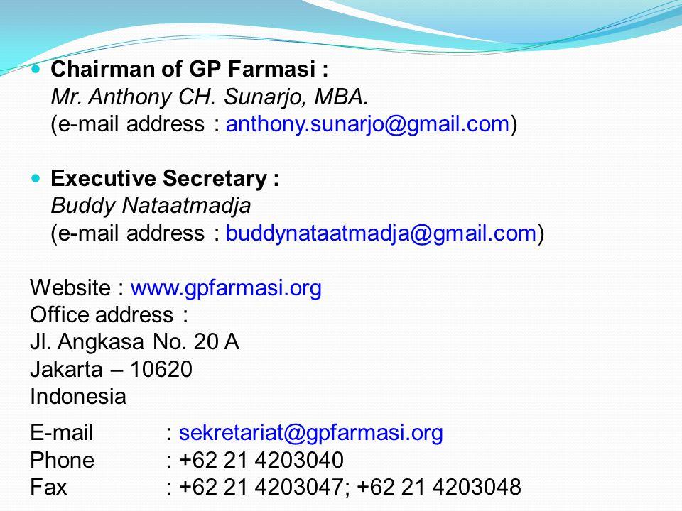 Chairman of GP Farmasi :