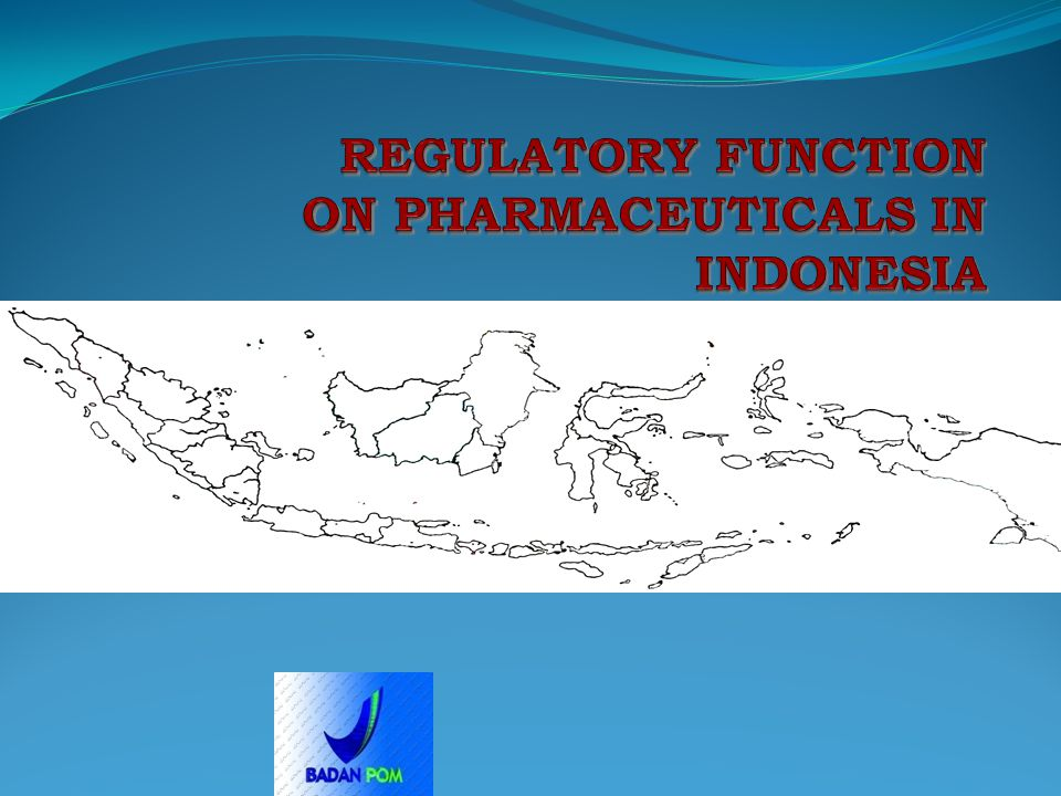 REGULATORY FUNCTION ON PHARMACEUTICALS IN INDONESIA