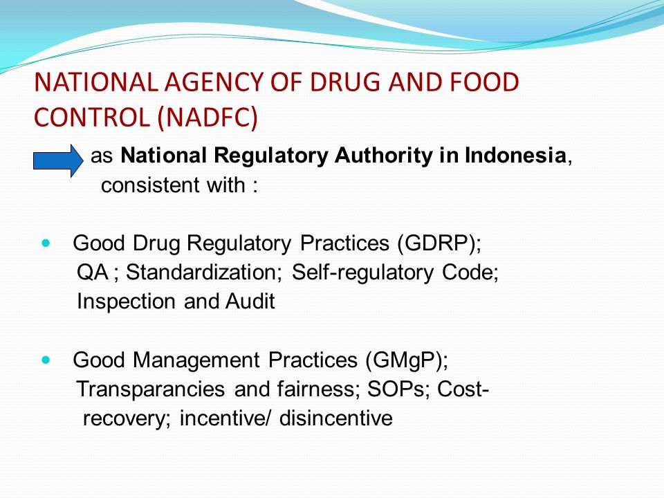 NATIONAL AGENCY OF DRUG AND FOOD CONTROL (NADFC)