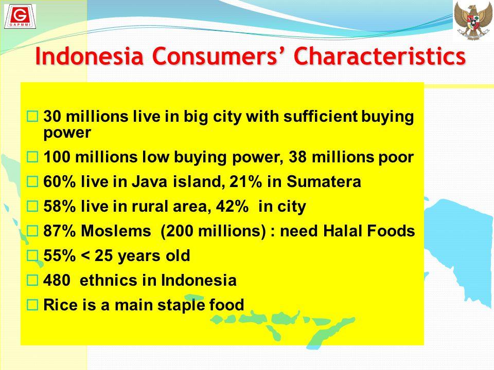 Indonesia Consumers' Characteristics