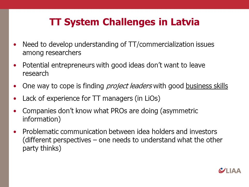 TT System Challenges in Latvia