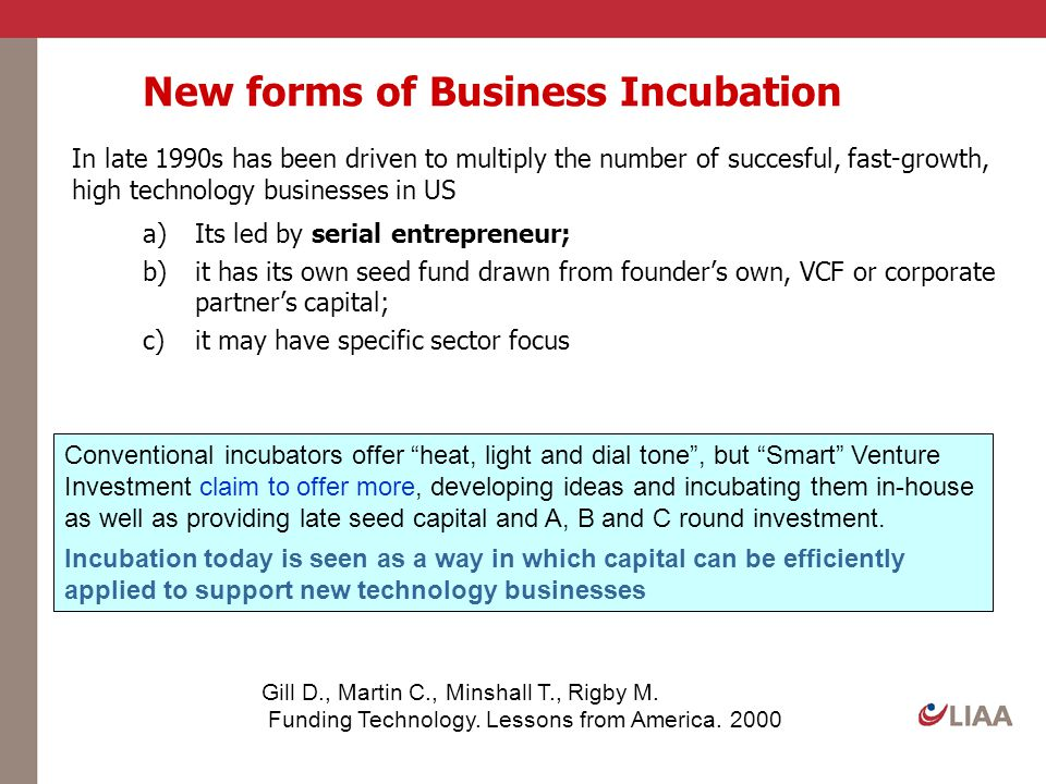 New forms of Business Incubation
