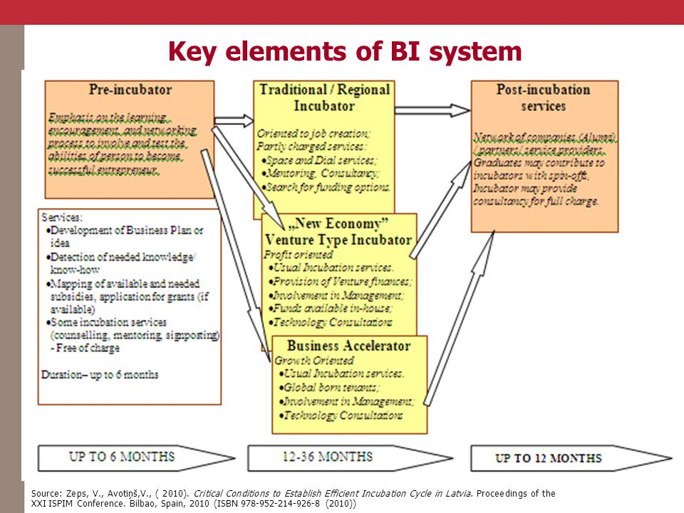 Key elements of BI system