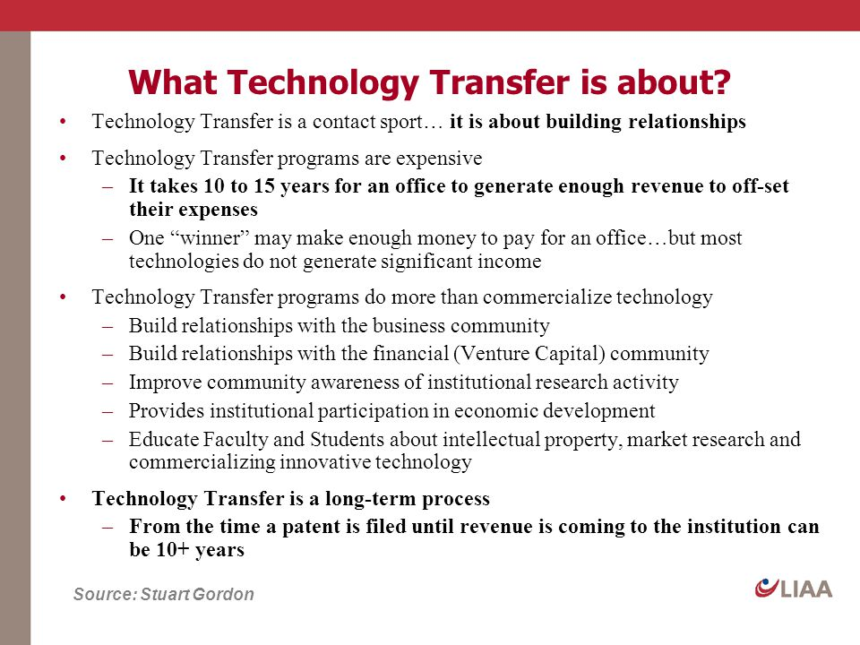 What Technology Transfer is about