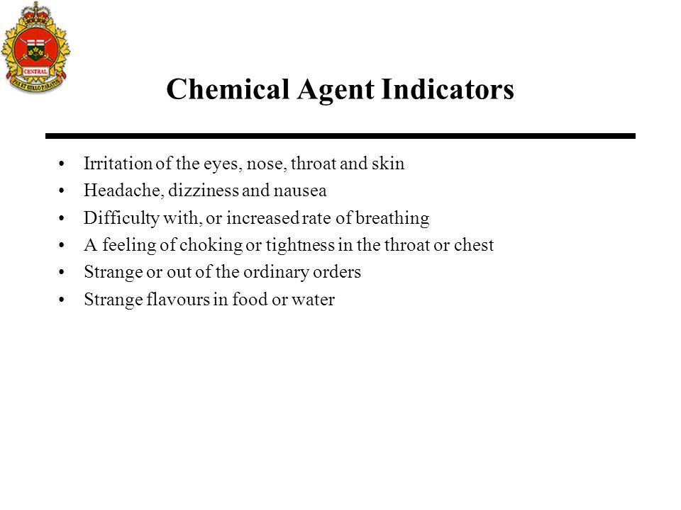 Chemical Agent Indicators