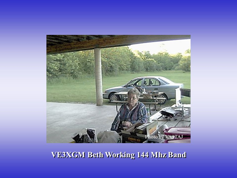 VE3XGM Beth Working 144 Mhz Band