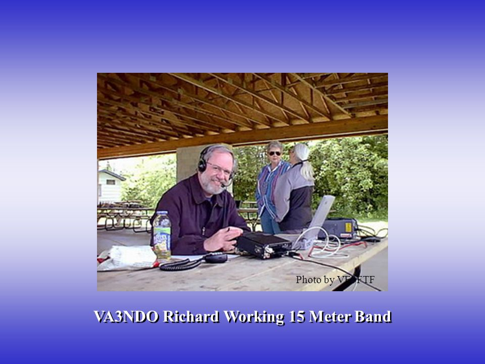 VA3NDO Richard Working 15 Meter Band