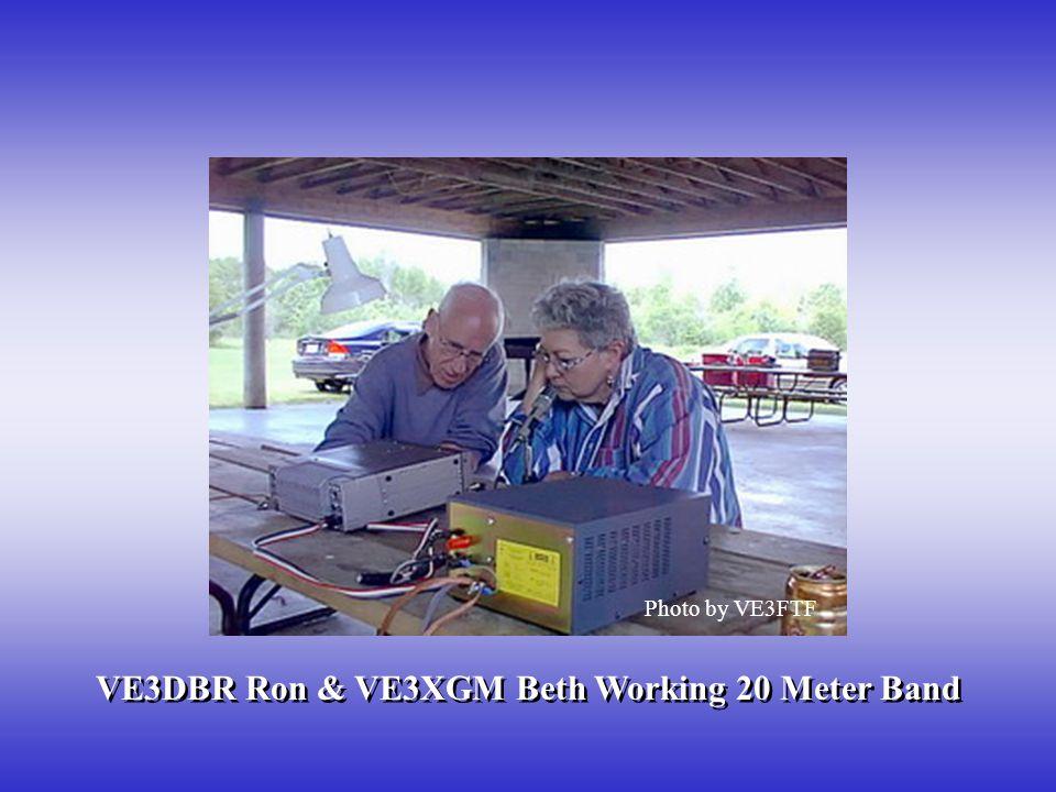 VE3DBR Ron & VE3XGM Beth Working 20 Meter Band