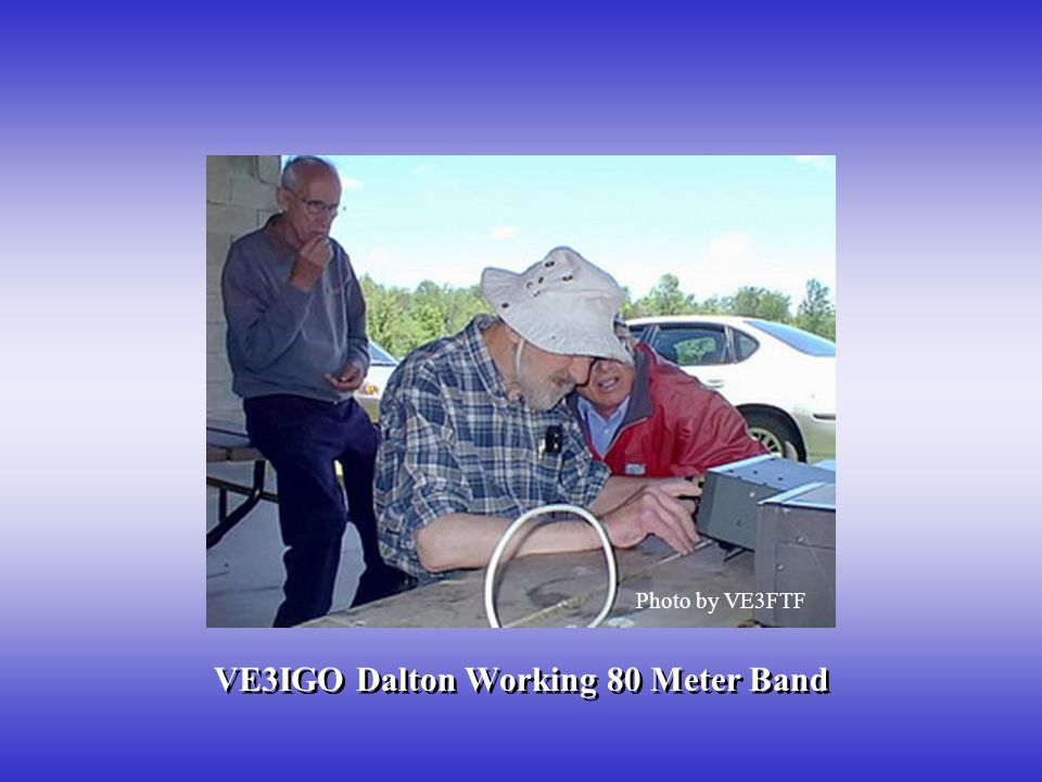 VE3IGO Dalton Working 80 Meter Band